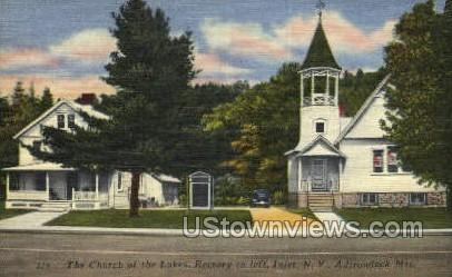The Church of the Lakes - Inlet, New York NY Postcard