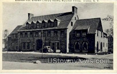 Emerson Hall, Hamilton College - Clinton, New York NY Postcard