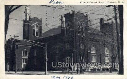 First Methodist Church - Endicott, New York NY Postcard