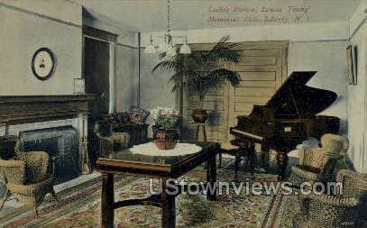 Ladies Parlor, Louise Young Hall - Liberty, New York NY Postcard