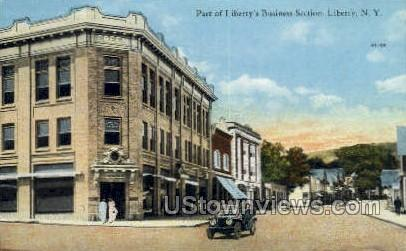 Business Section - Liberty, New York NY Postcard