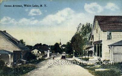 Ocean Ave. - White Lake, New York NY Postcard