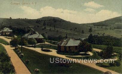 Cottages - Loomis, New York NY Postcard