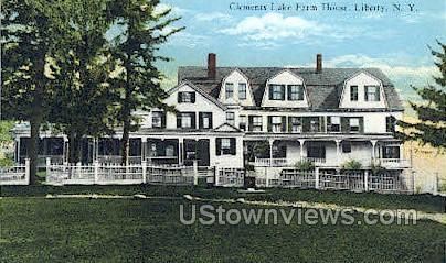 Clements Lake Farm House - Liberty, New York NY Postcard