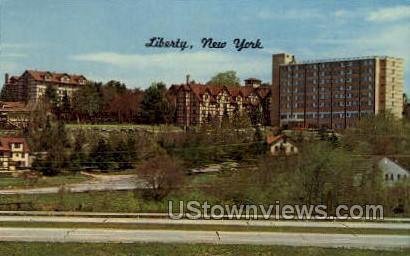 Liberty, New York, NY Postcard