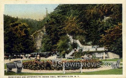 Indian Trail - Watkins Glen, New York NY Postcard