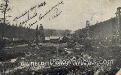Oil Field in 1865 - Olean, New York NY Postcard
