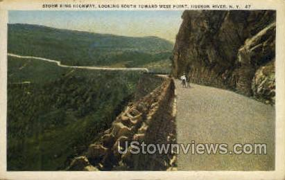 Storm King Highway - Hudson RIver, New York NY Postcard