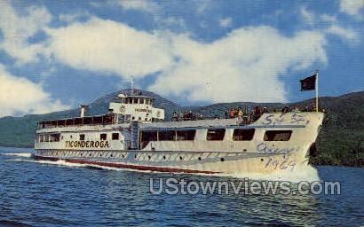 MV Jiconderoga - Lake George, New York NY Postcard