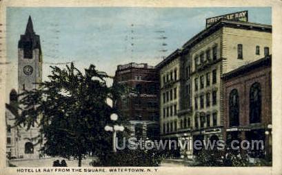 Hotel le Ray - Watertown, New York NY Postcard