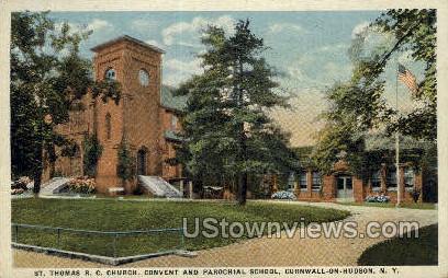 St. Thomas R.C. Church - Cornwall, New York NY Postcard