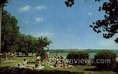 Kershaw park - Canandaigua, New York NY Postcard