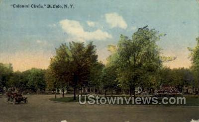 Colonial Circle - Buffalo, New York NY Postcard