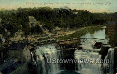 Lower Falls - Rochester, New York NY Postcard
