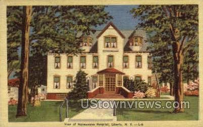 Maimonides Hospital - Liberty, New York NY Postcard