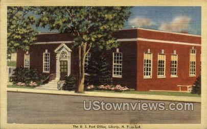 US Post Office - Liberty, New York NY Postcard