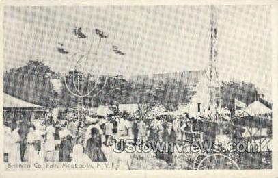 Reproduction - Sullivan Co. Fair - Monticello, New York NY Postcard