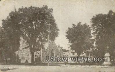 Presbyterian Church & Manse - Cortland, New York NY Postcard
