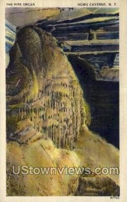 The Pipe Organ - Howe Caverns, New York NY Postcard