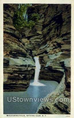 Whisptering Falls - Watkins Glen, New York NY Postcard