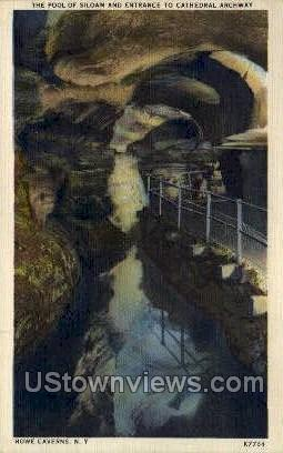 The Pool of Siloam - Howe Caverns, New York NY Postcard