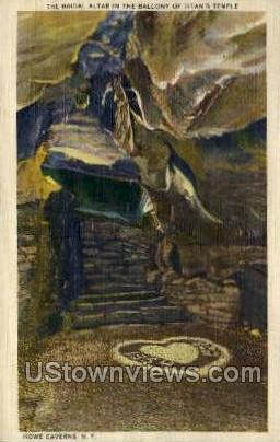 Bridal Altar - Howe Caverns, New York NY Postcard