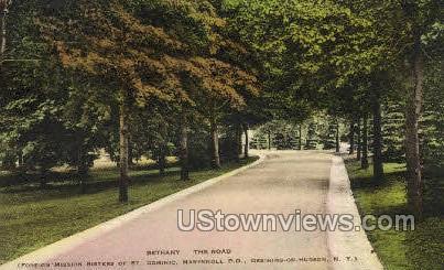 Bethany The Road - Ossining, New York NY Postcard