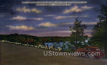 State Highway - Adirondack Mts, New York NY Postcard