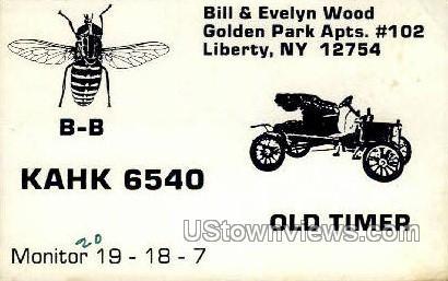Old Timer - Liberty, New York NY Postcard