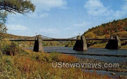 Suspension Bridge - Kingston, New York NY Postcard