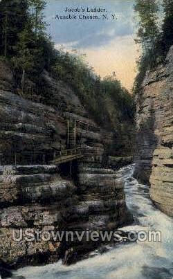 Jacob's Ladder - Ausable Chasm, New York NY Postcard