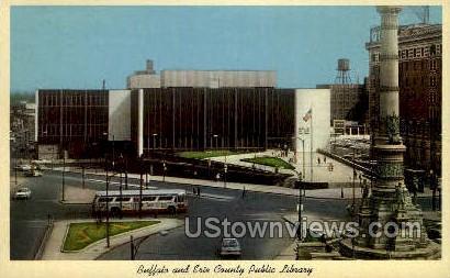 Erie County Public Library - Buffalo, New York NY Postcard