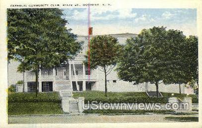 Catholic Community Club - Ossining, New York NY Postcard