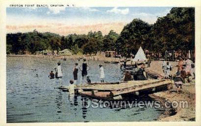 Croton Point Beach - Ossining, New York NY Postcard