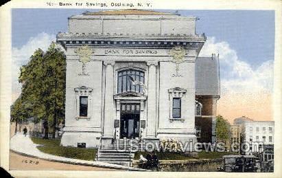 Bank of Savings - Ossining, New York NY Postcard