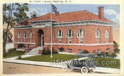 Public Library - Ossining, New York NY Postcard