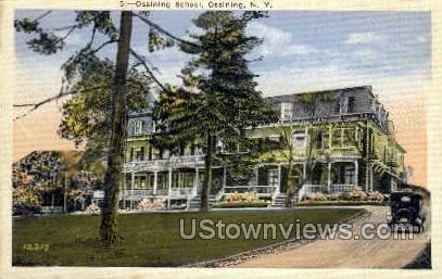 Ossining School - New York NY Postcard