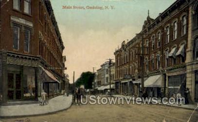 Main street - Ossining, New York NY Postcard
