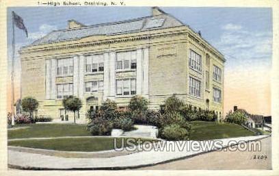 High School, Ossining - New York NY Postcard