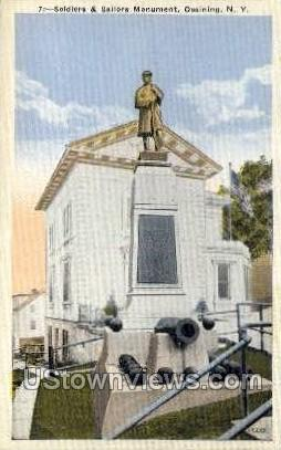Soliders' & Sailors Monument - Ossining, New York NY Postcard