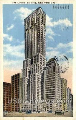 The Lincoln Bldg - New York City Postcards, New York NY Postcard