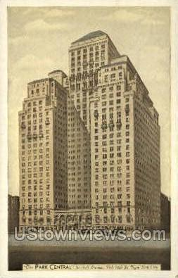 The Park Central - New York City Postcards, New York NY Postcard