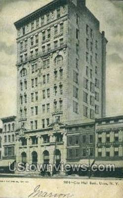 City Hall Bank - Utica, New York NY Postcard