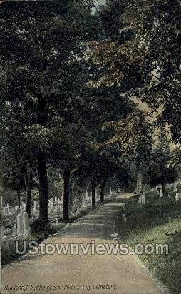 Hudson City Cemetery - New York NY Postcard