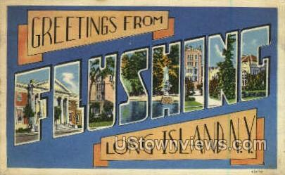 Flushing - Long Island, New York NY Postcard