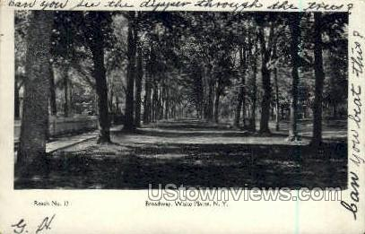 Broadway - White Plains, New York NY Postcard