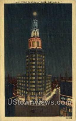 Electric Bldg - Buffalo, New York NY Postcard