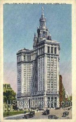 The Municipal Bldg - New York City Postcards, New York NY Postcard
