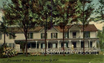Pleasant View House - Liberty, New York NY Postcard