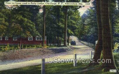 Bisby Lodge, Adirondack Mts - Old Forge, New York NY Postcard